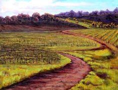"'Georgie's Vineyard' by Georgia Mansur, mixed media on canvas, 30x40"" email georgia@georgiamansur.com for more details. http://www.georgiamansur.com"