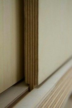 plywood sliding door detail