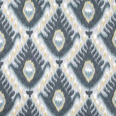 Indigo Blue Ikat Upholstery Fabric for by PopDecorFabrics on Etsy