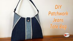 Patchwork Jeans, Patchwork Baby, Crazy Patchwork, Fabric Bags, Fabric Scraps, Diy Bags Jeans, Diy Jeans, Old Jeans Recycle, Patchwork Tutorial