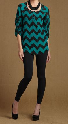 Massini Women's Georgette Tunic with Leggings (in-stores only)