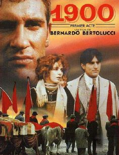 """""""1900"""" de Bernardo Bertolucci avec Gérard Depardieu, Dominique Sanda, Robert de Niro, Donald Sutherland, Burt Lancaster. 2 films. Italie. 1974."""