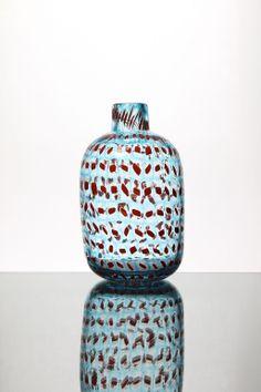 Sehr seltene Ermanno Toso Vase von Vittorio Ferro in Pezzato-Technik ausgeführt.