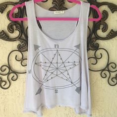 Compass crop top Perfect to layer or wear alone. Arm holes are over sized Ginger G Tops Crop Tops