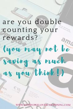 I'm seeing ALOT of people double counting their rewards lately at CVS, Walgreens and Target! This will trick you into thinking yo Ways To Save Money, Money Saving Tips, Couponing For Beginners, Reward Yourself, Budgeting Money, Financial Tips, Money Matters, Extra Money, Counting