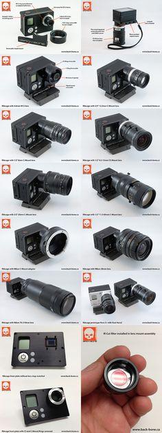 Превращение экшен-камеры GoPro 3 в фото и видеокамеру с c-mount объективами / Geektimes
