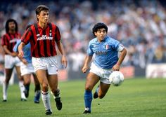 Paolo Maldini and Diego Maradona (with Ruud Gullit in the background) - Tres fantásticos de la época... http://1502983.talkfusion.com/product/