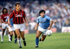 Paolo Maldini and Diego Maradona (with Ruud Gullit in the background) - Tres fantásticos de la época... http://1502983.talkfusion.com/product/