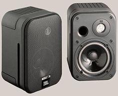 JBL Control One Robuster Kompakter Regallautsprecher Satellitenlautsprecher Studio-Monitor-Lautsprecher (1 Paar) schwarz