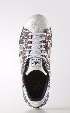 promo code 8a2b6 6ec6e 2016 Adidas Originals Superstar 80s Mary Katrantzou mujer Zapatos AF5272 De  venta
