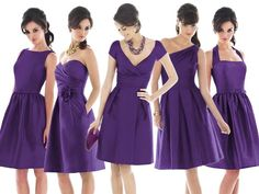 purple bridesmaids dresses : PANTONE WEDDING Styleboard : The Dessy Group