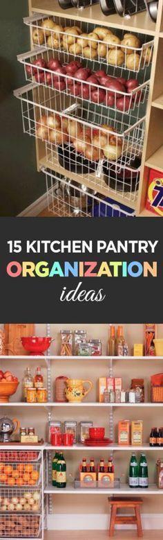 Kitchen organization, Kitchen mess, Kitchen hacks, Popular pantry organization … – Own Kitchen Pantry Pantry Organisation, Kitchen Pantry Design, Kitchen Organization Pantry, Kitchen Shelves, Home Organization, Pantry Ideas, Organizing Ideas, Pantry Diy, Kitchen Pantries