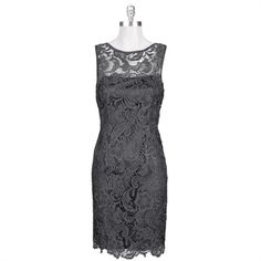 Adrianna Papell Lacy Illusion Shift Dress #VonMaur #AdriannaPapell bridesmaids! Yesssssslease!