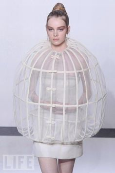 New meaning for ''a bird in a cage''.