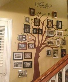 Amazing #familytree made with #uppercaseliving #vinyl #tree and lettering.  #family #home #generations #ultorreh #stairs