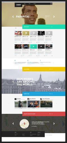 http://http//www.caviarcontent.com/ #websitedesign #webdesign #flatstyle #UI