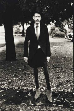 Diane Arbus, A very thin man in Central Park, N.Y.C., 1961