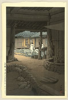Hasui Kawase--Chunum Temple in Korea
