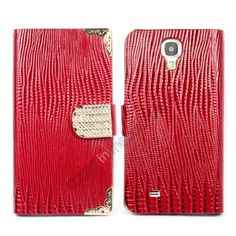 Luxury Diamond Wallet Leather Cover Case Skin For Samsung Galaxy S4 SIV i9500 - Red US$12.99