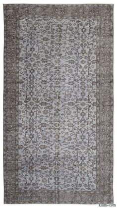 This over-dyed Turkish vintage rug is a celebration of both past and present. Created using a technique employed to breathe new life into older hand-knotted rugs, the colors are first neutralized before the rug is over-dyed with its entirely new hue. The original pattern can still be traced, a tribute to the skilled weavers who created it. The quality of the rug shines through, yet the recycled rug now fits perfectly into a contemporary interior design. Consider it not just as a rug, but as…