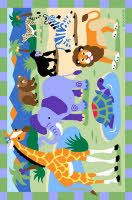 Olive Kids printed rugs are a fun, colorful and affordable way to brighten your child's room. Our kids rugs are colorfast nylon, with a non-skid backing.