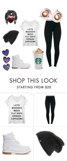 """""""Winter Coffee"""" by dariah3412 on Polyvore featuring Timberland and The North Face"""