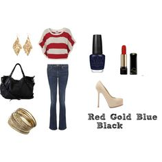 red gold blue and black!, created by faithful123