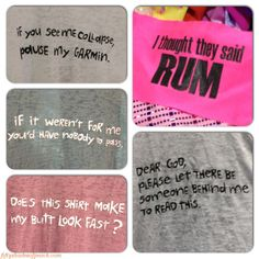 #running humor For Sarah Howard--I thought they said RUM!