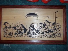 Scroll Sawed Lord's Supper Picture.