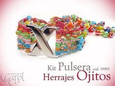 Aprenda y Venda con Variedades Carol: KIT 19903 kit pulsera herraje ojitos x und