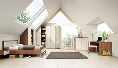 My Way - Schranklösung mit Sonderanfertigungen für Dachschrägenzimmer #nolteD #schlafraeume #myway #moebel