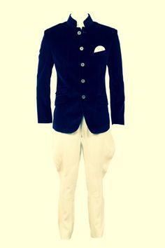 blue and white Jodhpuri Indian Groom Wear, Indian Wear, Groom Outfit, Groom Attire, Indian Men Fashion, Mens Fashion, Suit Guide, Baby Boy Dress, Collar Styles
