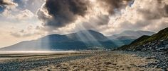 The Mourne Mountains, viewed from Newcastle beach, County Down, Northern Ireland.