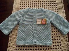Cores e Agulhas: Casaquinho para Bebe em Trico Xodó!