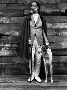.Gentleman and borzoi
