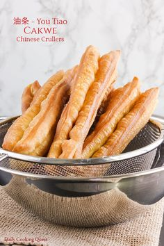 Chinese congee simply doesn't taste the same without cakwe (Chinese crullers/you tiao/油条), and you can make them easily and successfully with my recipe. My Recipes, Dessert Recipes, Favorite Recipes, Gourmet Recipes, Bread Recipes, Recipies, Easy Chinese Recipes, Asian Recipes, Chinese Cruller Recipe