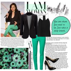 Lana Parrilla- Black & Turquoise by oncerfashion on Polyvore featuring TIBI, Wallis, LUISA CERANO, Nly Shoes and lanaparrilla