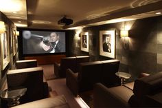 Home Cinema Design Project | Courchevel| Interior Design Project, Luxury cinema…