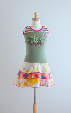 Upcycled Dress Children Clothing Children Spring by LittleOvercoat