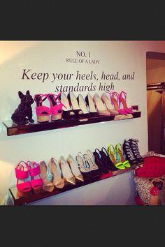 love shoe shelves for closet. Makes me think of Sara Hart!