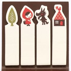 Little Red Riding Hood Post-it bookmark stickers 1