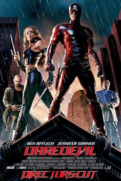 """Official Movie Poster for """"DareDevil"""" - Directed by Mark Steven Johnson. Starring Ben Affleck, Jennifer Garner, Colin Farrell, and Michael Clarke Duncan. Streaming Movies, Hd Movies, Movies To Watch, Movies Online, Movie Tv, Hd Streaming, Hero Movie, Movies Free, Movies 2019"""