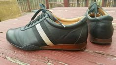 BALLY FRANCISCA Black Calf Leather Fashion Sneakers Women's Sz EU 38E / US 7.5D #Bally #leathersneaker