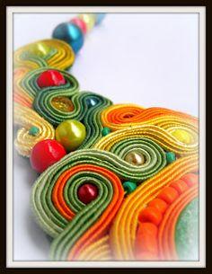 sutasz nasz biżuteria artystyczna rękodzieło soutache jewelry handmade naszyjnik wisiorek kolczyki bransoletka ślub ślubna komplety galkas162 Soutache Jewelry