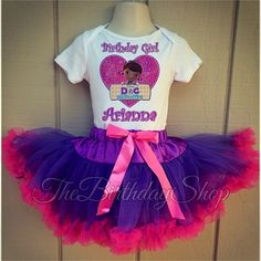 Doc McStuffins Animal Doctor Girl 4th Fourth Birthday Tutu Outfit Shirt Set