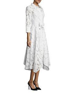 Teri Jon by Rickie Freeman - Floral Printed Shirt Dress