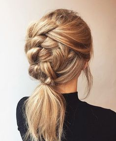 Pretty braid hairstyle - fishtail braid hairstyles ,hairstyle ideas ,updo ,messy updohairstye #ponytail #hairdown #longhairstyle #braids