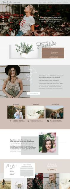Custom Website Design & Templates for Ambitious Female Entrepreneurs Get Off! - Intuitively designing soulful personal brands websites that STAND OUT for ambitious dreamers Custom Web Design by Becca Luna Banner Web Design, Layout Design, Layout Web, Website Design Layout, Homepage Design, Design Design, Blog Design, Design Ideas, Design Websites