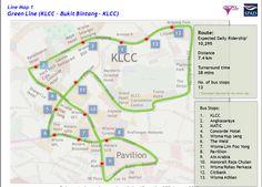 Kuala Lumpur Peta Laluan GOKL City Bus map Maps Pinterest Bus