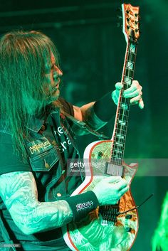 Gary Holt, guitarist of Exodus/Slayer, performs at The Joint in Las Vegas, Nevada on March Gary Holt, Kerry King, Namm Show, Custom Electric Guitars, Metal T Shirts, Band Photos, New Bands, Thrash Metal, Metalhead